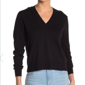 J. Crew wool v-neck relaxed fit sweater size small